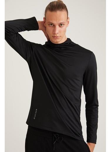 Defacto –Fit Kapüşonlu Slim Fit Spor Sweatshirt Antrasit